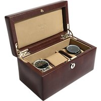 shop for Dulwich Designs Windsor Leather 3 Piece Watch Box, Brown at Shopo