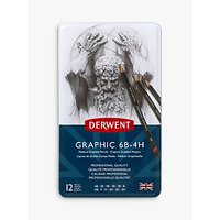Derwent Medium Graphic Pencils, Set of 12