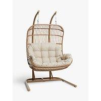 John Lewis & Partners Cabana Double Hanging Pod Garden Chair
