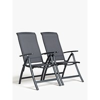 John Lewis & Partners Miami Reclining Dining Chair, Set of 2, Grey