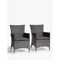 John Lewis and Partners Alora Garden Dining Chairs, Set of 2, Brown