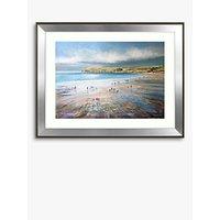 Michael Sanders - Polzeath Beach, Framed Print & Mount, 70.5 x 90.5cm
