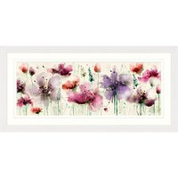 Green Lili - Floral Splendour Framed Print, 52 x 107cm