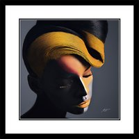 Veronica Azaryan - Modern Beauty II Framed Print & Mount, 61.5 x 61.5cm