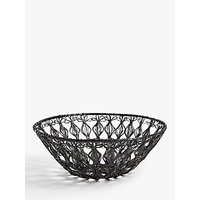 John Lewis & Partners Wire Bowl, 30cm, Black