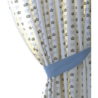 Rachel Riley My Little Prince Pencil Pleat Fully Lined Children's Curtains, Light Blue