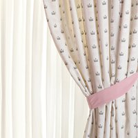 Rachel Riley My Little Princess Pencil Pleat Fully Lined Children's Curtains, Light Pink