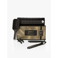 ghd Gold Hair Straightener Smooth Styling Gift Set, Black