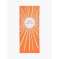 John Lewis & Partners Sunshine Deckchair Sling, Orange