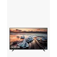 Samsung QE85Q900R (2018) QLED HDR 4000 8K Ultra HD Smart TV, 85 with TVPlus/Freesat HD & 360 Design, Black