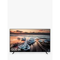 Samsung QE75Q900R (2018) QLED HDR 4000 8K Ultra HD Smart TV, 75 with TVPlus/Freesat HD & 360 Design, Black
