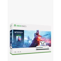 Microsoft Xbox One S Console, 1TB, with Wireless Controller and Battlefield V Game Bundle