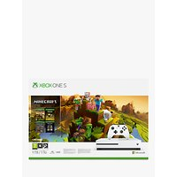 Microsoft Xbox One S Console, 1TB, with Wireless Controller and Minecraft Creators Game Bundle