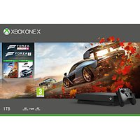 'Microsoft Xbox One X Console, 1tb, With Wireless Controller And Forza Horizon 4 + Forza Motorsport 7 Bundle
