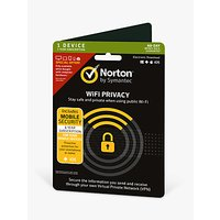 Norton Wi-Fi Privacy via Virtual Private Network, 1 Year Subscription