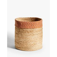 John Lewis and Partners Fusion Jute Storage Basket with Circular Band