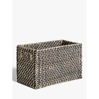 John Lewis and Partners Fusion Dark Rattan Open Basket, Small