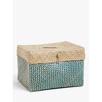 John Lewis and Partners Fusion Patterned Seagrass Basket