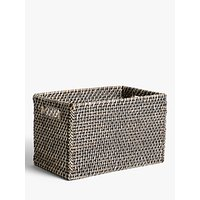 John Lewis and Partners Fusion Dark Rattan Open Basket, Large