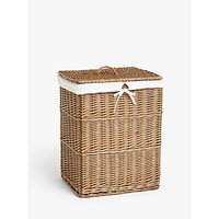 John Lewis and Partners Wicker Laundry Basket