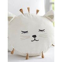 Pottery Barn Kids Emily & Meritt Cat Shaped Pillow, White