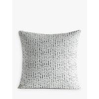 Pottery Barn Kids Velvet Jacquard Cushion Cover, Silver