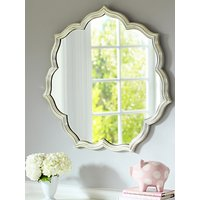 shop for Pottery Barn Kids Silverleaf Petal Mirror, 82.5 x 82.5cm, Silver at Shopo