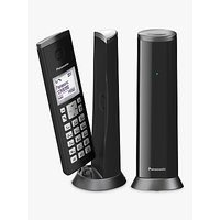 Panasonic KX-TGK222EB Digital Cordless Telephone with 1.5 LCD Screen, Nuisance Call Blocker and Answering Machine, Twin DECT, Black