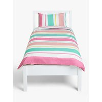 little home at John Lewis Painterly Striped Reversible Duvet Cover and Pillowcase Set, Single