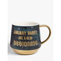 John Lewis & Partners January Mug, 450ml