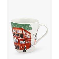 Cath Kidston All Aboard Stanley Mug, 400ml, White/Multi