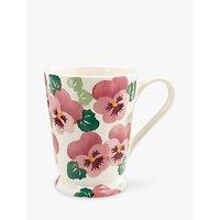 Emma Bridgewater Pink Pansy Cocoa Mug, White/Pink, 426ml
