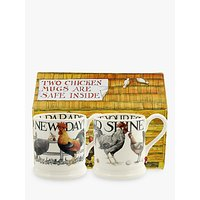Emma Bridgewater Hen and Toast Half Pint Mugs, Set of 2, 284ml, Multi
