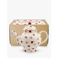 Emma Bridgewater Pink Hearts 4 Mug Teapot, White/Pink, 1.5L