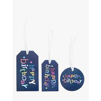 John Lewis & Partners Happy Birthday Gift Tags, Pack of 3