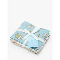 Create and Make Peter Rabbit Print Fat Quarter, Pack of 4, Multi