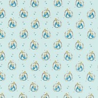 Create and Make Peter Rabbit and Mum Print Fabric, Blue