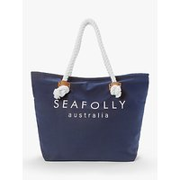 shop for Seafolly Ship Sail Tote Bag, Blue at Shopo