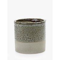 Serax Cylinder Glazed Pot, Grey/Brown