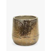 Serax Round Glazed Pot, Gold