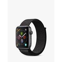 Apple Watch Series 4, GPS, 44mm Space Grey Aluminium Case with Sport Loop, Black