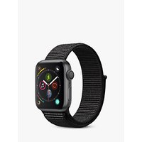 Apple Watch Series 4, GPS, 40mm Space Grey Aluminium Case with Sport Loop, Black