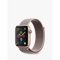 Apple Watch Series 4, GPS, 44mm Gold Aluminium Case with Sport Loop, Pink