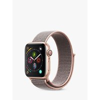 Apple Watch Series 4, GPS, 40mm Gold Aluminium Case with Sport Loop, Pink