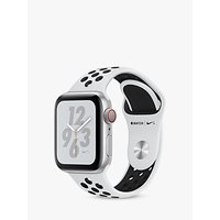 Apple Watch Nike+, Series 4, GPS and Cellular, 40mm Platinum Aluminium Case with Nike Sport Band, Black