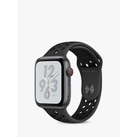 Apple Watch Nike+, Series 4, GPS and Cellular, 44mm Anthracite Aluminium Case with Nike Sport Band, Black
