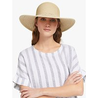 John Lewis and Partners Packable Weave Floppy Sun Hat, Natural