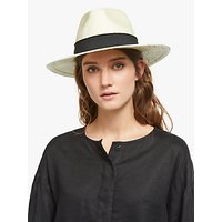 John Lewis and Partners Fedora Sun Hat, Cream