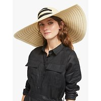 John Lewis and Partners Oversized Lace-Up Floppy Sun Hat, Natural