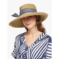 John Lewis and Partners Braid Stripe Floppy Sun Hat, Natural